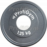 Диск стальной Powerlifting d=51мм 1,25кг,